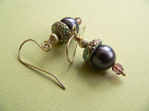 Carnivale Dusky Plum Earrings