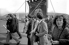 Port Talbot Miners Strike 1984 (Alan Denney) Tags: protest demonstration demonstrations porttalbot minersstrike
