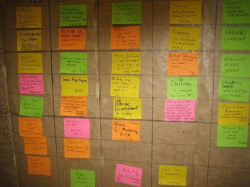 Schedule Board from BarCampBoston3