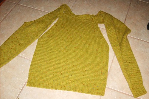 Tweed Wool Sweater - Before