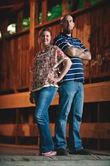 Cliff and Terri - Pisgah Covered Bridge (-StephenY-) Tags: bridge wedding woman man love pose engagement couple sb600 tough sb900