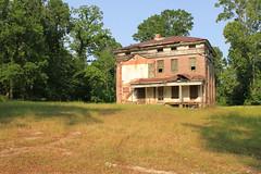 This is the rear of the house (Black.Doll) Tags: brick abandoned alabama plantation antebellum tinroof blackbelt greekrevival 1845 dallascounty elmbluff silentintheland blackbeltofalabama
