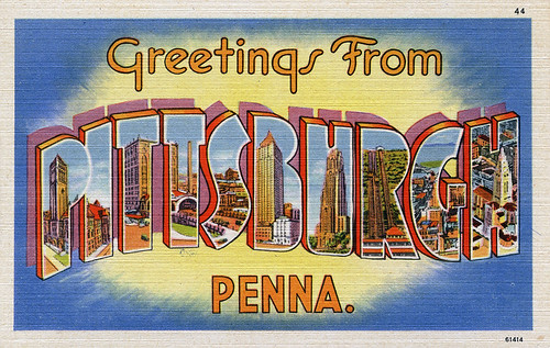 Greetings from Pittsburgh, Pennsylvania - Large Letter Postcard