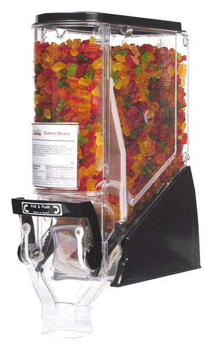 Candy dispenser for soft candy, TF6104