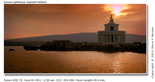 Sunset Lighthouse Argostoli  Kefalonia Greek Island