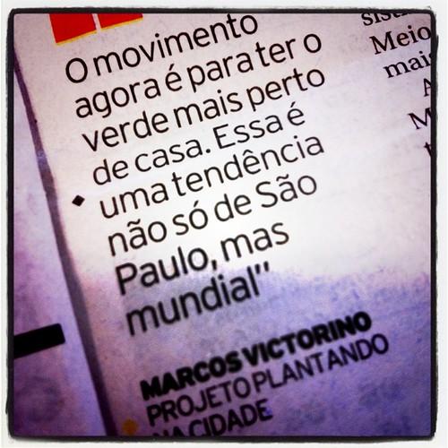 """""""Ser vizinho de área verde é um dos maiores desejos de quem mora na capital"""" - tendência não só de São Paulo, mas mundial ;-)"""