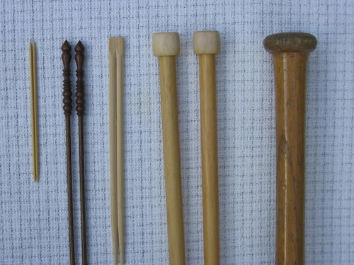 Knitting needles etc