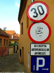Cu exceptia autovehiculelor autorizate