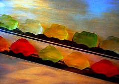 rush hour (overthemoon) Tags: red orange playing green cars yellow collage yummy candy traffic picasa diagonal monet sweets layers parallel haribo automobiles gummy whoosh fruitgums minicars bestofr soulsresonance betterthangood disfordiagonal seenonflickr 6setdiagonalleft