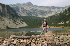 Me and Pirin mountains (proxima2) Tags: mountain lake me hiking bulgaria pirin proxima2