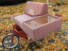 couch by bike