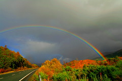 The End Of The Rainbow (Ian Lambert) Tags: road uk sun storm nature rain weather clouds scotland highlands rainbow bright britain sunny explore loch distillery thunder lochlomond darkclouds lomand potofgold lochlomand instantfave mywinners explorefp platinumheartaward artlegacy salveanatureza