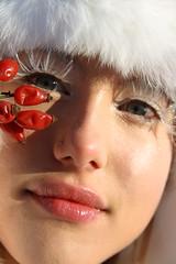 Frozen Doll (Andre25_85) Tags: winter red portrait white snow toronto canada cold art apple girl frozen eyes doll lashes bright crystal makeup lips fairy swarovski snowwhite winterwonderland zapada craiasa
