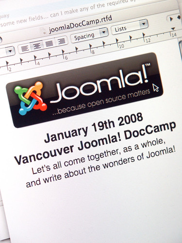 January 19th 2008 Vancouver Joomla! DocCamp