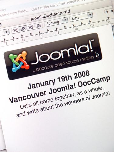 January 19th 2008 Vancouver Joomla! DocCamp