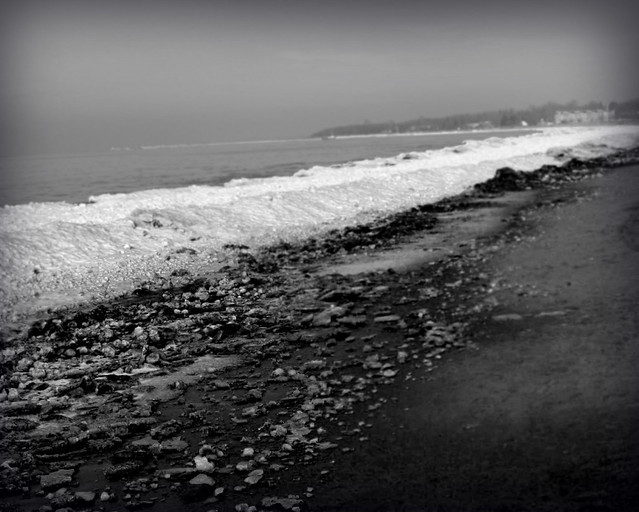 The Shores of Winter BW
