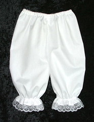 white bloomers