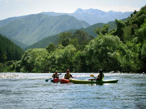 Kayaking on Motueka River