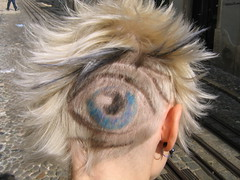 "hair cut hairdesign ""the eye"" (wip-hairport) Tags: haircut color eye girl strange face fashion illustration hair de design weird lisboa corte style wip freaky odd independent radical eccentric salon lissabon queer extraordinary cabelo styling offbeat haare peculiar antifashion haarschnitt gefrbt cabeleireiro hairart hairport wiphairport individualstyle"