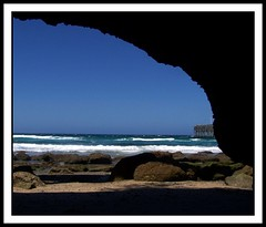 From the inside (Lady Jayne ~) Tags: beach australia nsw cave catherinehillbay