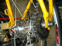 TomiCog mounted to Phil Wood singlespeed hub