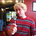 Jason Lewis with his Absinthe Lollipop
