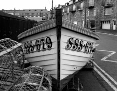Hauled Up (Davy Ellis) Tags: coast boat northumbria northeast lobsterpots seahouses