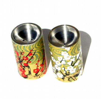 Stainless steel and chiyogami s-n-p shakers : Asian iCandy Store, Unique Asian Arts and Gifts From Independent Artists :  home decor kitchen
