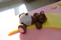 Close up of bear (irresistibledesserts) Tags: bear pink moon cake