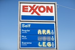 A subtle price increase... (eatsShootsAndLeaves) Tags: sign humor exxon