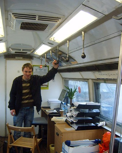 James in his Tube Carriage Office