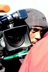 Behind The Eye (Blue Flower) Tags: camera portrait color men cameramen