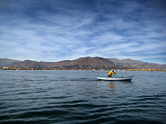 Lonesom sailor at Titicaca (MaulPhotography) Tags: lake peru titicaca sailor puno peruvianimages