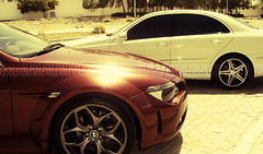 {          . . *~ ( [][][][] , ~ ) Tags: red white cars photography mercedes benz maroon bm bmw rims m6    e55 amg    carz                     haza3       hzaa3         hza3