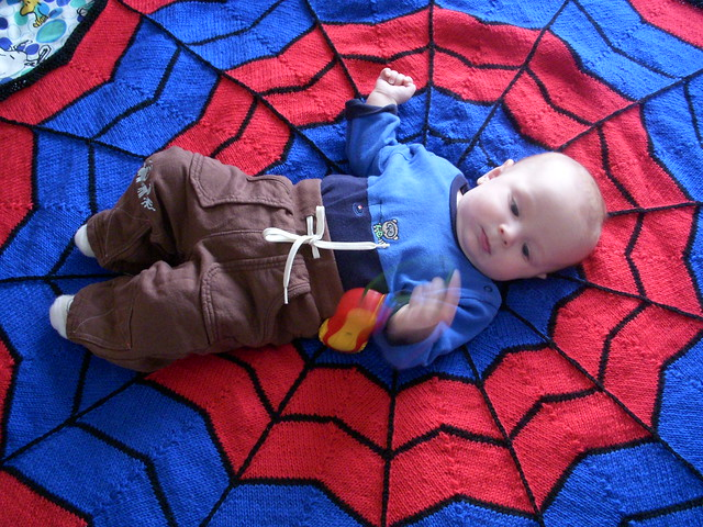 Spiderman Blanket by AnneM (FREE)