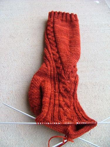 Salto socks WIP