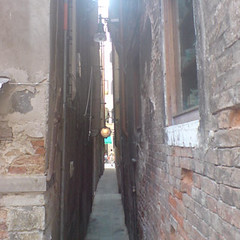Narrow streets of Venice