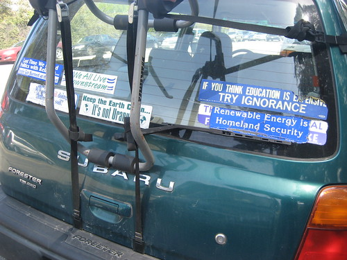 sanfrancisco signs true democracy education funny earth politics religion stickers protest security bumper quotes subaru uranus homeland witty freespeech intelligent forester ignorance downstream