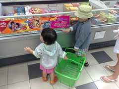 Shopping with the kids