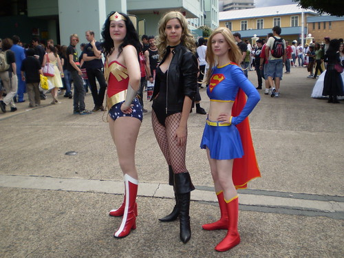 Sexy Superheroines. Wonder Woman, Black Canary, Supergirl