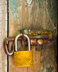 a6775 Lock Wood (tengtan (away awhile)) Tags: door wood old glitter wooden iron paint lock rusted padlock soe decayed latch lockwood disintegrating tuesdaychallenge aplusphoto auselite