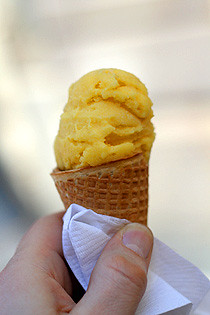 Passionfruit sorbet
