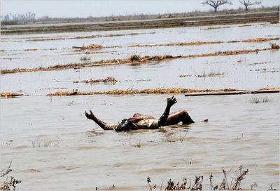 Myanmar Cyclone Nargis victim