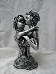 Casal Africano. (Digo Pessoa) Tags: bonecas arte afro artesanato imagens decorao gesso pinturas africanas decorativo