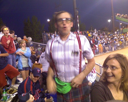 Take [the nerd] out to the ball game