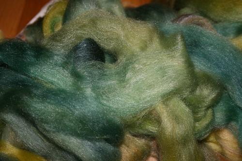 Susan's Spinning Bunny Merino/Tencel in Tamarack & Spruce
