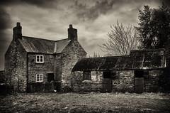 Ripe for Development (amber654) Tags: england derbyshire astwith farm farmhouse stables history derelict empty village property development mono monochrome sepia bw blackandwhite rustic countryside rural panasonic lumix lumixtz60 tz60