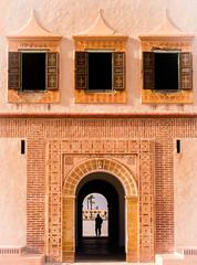 Menara Door - Marrakech (Matthieu Manigold) Tags: menara door marrakech silhouette maroc colours window person architecture