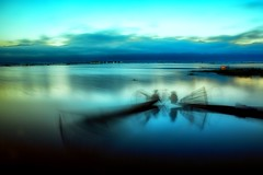 Conversations in the third person~ myanmar (~mimo~) Tags: outdoor clouds sunrise lake blur fire boat fishing fishermen reflection inle asia burma mimokhairphotography myanmar travel