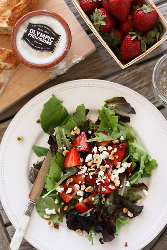 Strawberries and Salad...